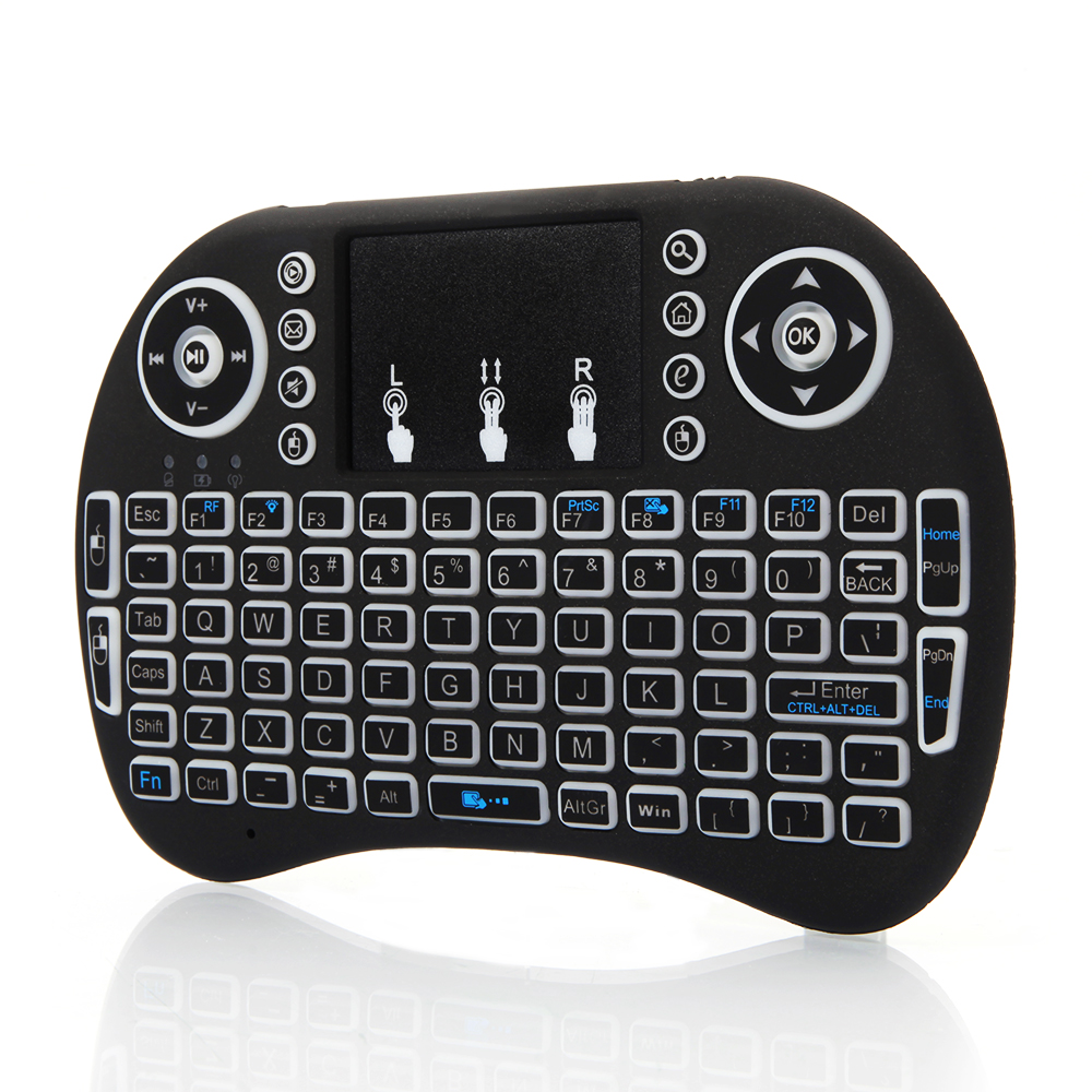 Mini Wireless Keyboard I8 2.4GHz 3 Colors Backlit Touchpad For PC TV Box Android - $13.21